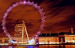 The London Eye laser show