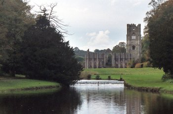 Fountains Abbey, near Ripon in North Yorkshire